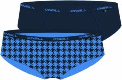 Blauwe O'Neill Dames hipster 2-Pack Pied de Poule 801602