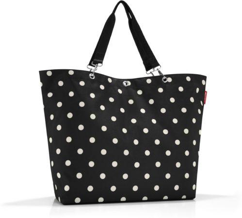 Afbeelding van Reisenthel Shopper XL Strandtas - Shopper - Maat XL - Polyester - 35L - Mixed Dots Zwart;Wit;oranje