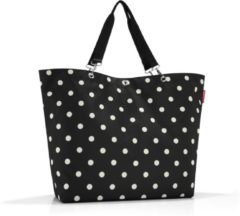 Reisenthel Shopper XL Strandtas - Shopper - Maat XL - Polyester - 35L - Mixed Dots Zwart;Wit;oranje