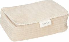 Zandkleurige Koeka babydoekjes box Vik 12x20 cm zand