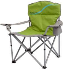Praktischer Campingstuhl mit Getränkehalter und Kühlfach vielseitig einsetzbar für Festival Meerweh grün/grau
