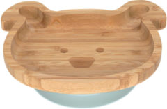 Reer Lässig 4Babies & Kids Bord bamboo/hout met zuignap silicone little chums dog