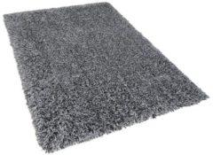 Beliani Vloerkleed grijs gemêleerd 160 x 230 cm hoogpolig CIDE