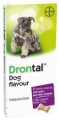 Bayer Drontal Dog Tasty Ontworming - Hond - 6 tabletten