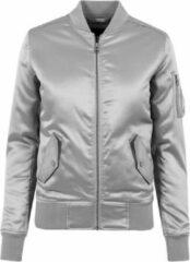Urban Classics Bomber jacket -S- Satin Zilverkleurig