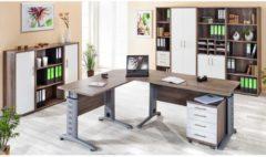 4-tlg Schreibtisch Set Computertisch Ecktisch Winkeltisch PC Tisch Bürotisch Braso 230 VCM Buche