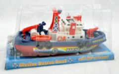 Toys Amsterdam brandweerboot met waterfunctie 26 cm rood