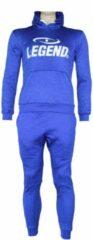 Legend Sports Joggingpak dames/heren met hoodie blauw XL