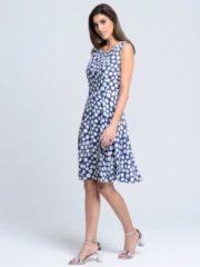 Kleid Alba Moda Blau/Weiß