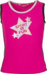 Papillon Tanktop Sport = Fun Meisjes Roze Mt 104