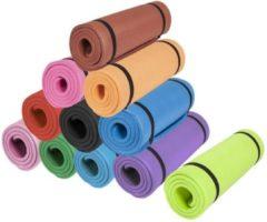 Fuchsia Gorilla Sports Yogamat Deluxe (190 x 60 x 1,5 cm) - Yoga Mat - geel