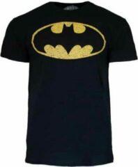 Zwarte DC Comics Batman Classic logo DC Comics Heren T-shirt Maat 3XL