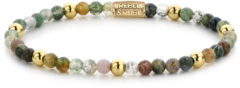 Rebel & Rose Rebel and Rose RR-40046-G Rekarmband Beads Indian Summer meerkleurig-goudkleurig 4 mm S 16,5 cm