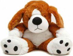 Pelucho Warmteknuffel lavendel-tarwe Hond bruin/wit