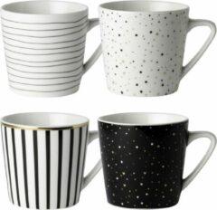 Gouden Dutch Rose Amsterdam Set van 4 Dutch Rose Loft koffiemokken 20 cl assorti verpakt