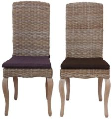 Möbel direkt online Moebel direkt online Rattanstuhl 2er-Set Stühle im 2er-Pack handgeflochten Aus Kubu-Rattan, naturgrau