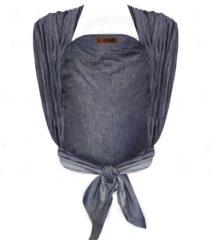 Blauwe Bykay Draagdoek Geweven Denim Dark Jeans Maat 7