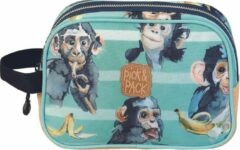 Pick & Pack Chimpanze Toilettas - Turquoise