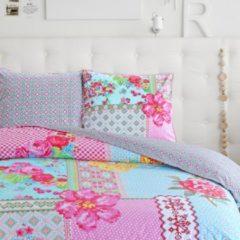 Roze Happiness Dekbedovertrek Paradise - Katoen-percal - no.8053 - Multi Maat: 240x220cm