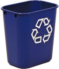 Rubbermaid commercial products Rubbermaid recylagebak, zonder zijbakjes, 26,6 liter, blauw