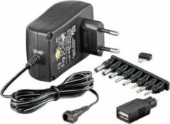 TECHly IPW-NTS1500G Stekkernetvoeding, vaste spanning 12 V, 3 V, 5 V, 6 V, 9 V 1500 mA 18 W Uitgangsspanning regelbaar, Energiebesparende stekker,