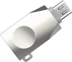 HOCO UA10 - Converter Adapter - Micro-USB naar USB - Opladen en Data - OTG Support - Zilvergrijs