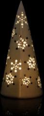 Lumesso LED-Porzellan-Deko mit Schneeflocken