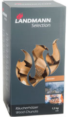 Landmann Hickory houtbrokken met schors 1,5 kg
