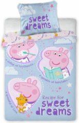 Blauwe Peppa Pig Sweet Dreams BABY dekbedovertrek - 100 x 135 cm - Multi