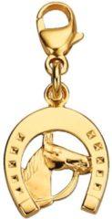 Goudkleurige Bedel Hoefijzer met paardenhoofd WENZ Geelgoudkleur