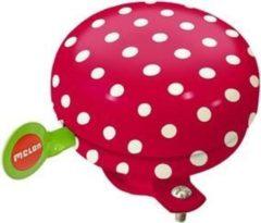 Melon bel Dotty White 60mm rood/wit