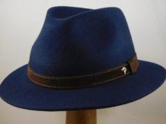Panizza wolvilt hoed 'Potenza' / blauw maat 60