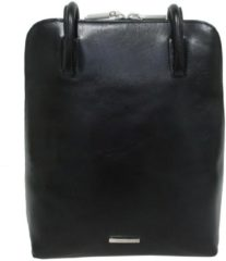 Zwarte Claudio Ferrici Classico Backpack black Damestas