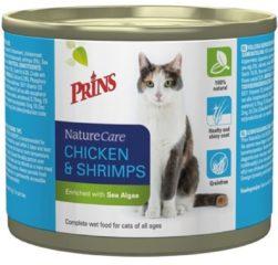 Prins Naturecare Cat Kip/Garnaal Grootverpakking 6x200Gr