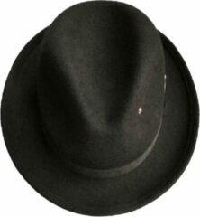Lucky Shh Fedora wolvilten hoed donkerbruin - Boho rock and roll hoed - winterhoed - UNISEX