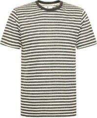 Zwarte Anerkjendt Akrod striped t shirt caviar 900323