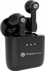 Zilveren PowerLocus PLX Volledig Draadloze in-ear Oordopjes - USB-C- 44 uur speeltijd - Zwart