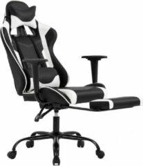 Witte Best Office OC-1688-White Ergonomische gaming stoel met lendensteun - PU-leer - verstelbaar