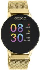 OOZOO Smartwatch Q00121 Mesh staal goudkleurig-zwart 43 mm