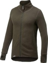 Woolpower - Full Zip Jacket 400 - Wollen jack maat M, zwart/olijfgroen
