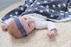 Bliss Babydeken - Wikkeldeken - Omslagdoek - Wiegdeken - Dekentje - Ster Grijs