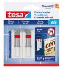Transparante Tesa - 77765 - verstelbare klevende schroef - voor metaal en tegels - 2 stuks