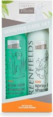 Groene Greenfields Hondenshampoo - Gevoelige Huid Verzorgingsset - 2x250ml