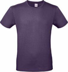 Bc Set van 2x stuks paars basic t-shirt met ronde hals voor heren - katoen - 145 grams - paarse shirts / kleding, maat: L (52)