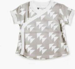 Grijze Moon Monsters Baby T-shirt - Beige - Nano Nova - Maat 62-68
