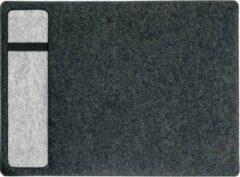 Sigel plus casualstyle SA302 Vilten bureau onderlegger Antraciet, Grijs (b x h) 600 mm x 400 mm