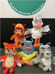 Grijze Pluche Fabeltjeskrant Bor de Wolf handpop knuffel 25 cm speelgoed - Fabeltjeskrant poppen - Wolven bosdieren knuffels - Poppentheater speelgoed kinderen