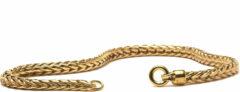 Trollbeads TAUBR-00002 Armband Vossenstaart geelgoud (zonder slotje) 19 cm