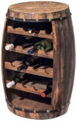 MiaVILLA Flaschenregal Weinfass, Tannenholz