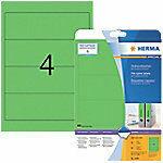 Ordneretiketten Herma 5099 A4 192x61 mm groen papier mat ondoorzichtig 80 st.